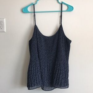 Abercrombie and Fitch Navy Blue Chiffon Camisole